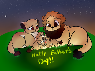 Happy Father's Day ! {WITH TEXT} by WolfehTheArtist