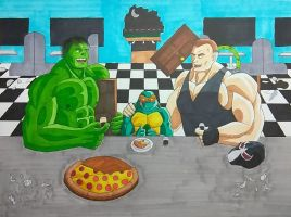 Hulk, Mikey, and Bane by ShadowDragon6114