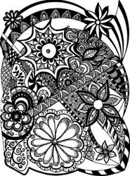 Black-and-white zentangle 1 by ZendoodleArt