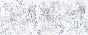 Skyrim Sketches by the-Orator