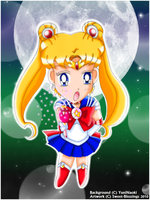 Chibi Sailor Moon by Sweet-Blessings