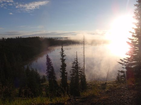Morning in YellowStone by AnimeWaterFall