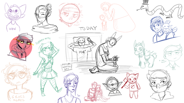 Sketchdump 6 by FeatherFrames