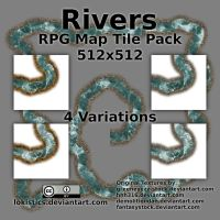 Rivers - Free RPG Map Tile Pack by Lokistics