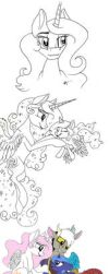 MLP Royal Family Sketch Dump by Celestial-Rainstorm