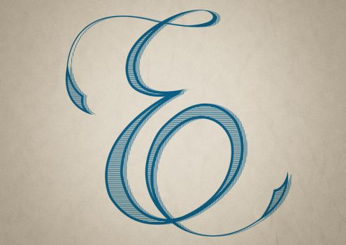 Hand Lettered E by OpenMind989
