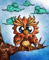 owl illustration by jml2art