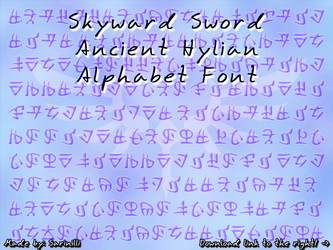 Skyward Sword Ancient Hylian - Font by Sarinilli