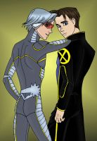 Northstar and Iceman by insectikette