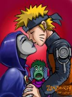 Naruto and Raven Kiss by zenzmurfy
