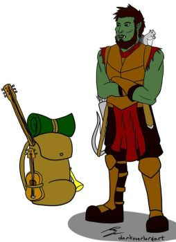 Keith the half-orc bard by Koragg1