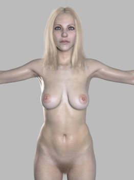 Base mesh hair test 02 by screenlicker
