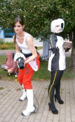 Chell and GLaDOS 2 by Yuzulina
