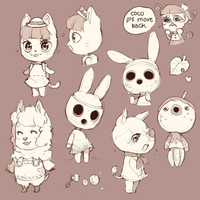 animal crossing doodles by dianthus-alpinus