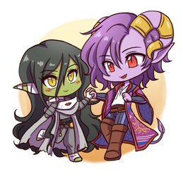 CR: Chibi Nott and Molly by SilverHyena