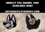 Inkblot Fox Enamel Pins (AVAILABLE FOR PURCHASE!) by gaturguts