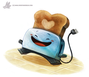 Daily Painting #973. #BraveLittleToaster (FA) by Cryptid-Creations