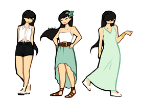 summery outfits by White-pine