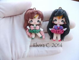 Sailor Jupiter + Mars(available on etsy monday 13) by elvira-creations