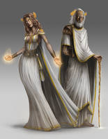 Akis, God of Fate (Male and Female forms) by BABAGANOOSH99