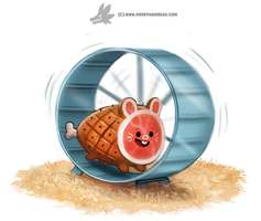 Daily Paint #1228. Ham-ster by Cryptid-Creations