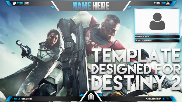 Live Stream Overlay Template - Destiny 2 by AcezProduction
