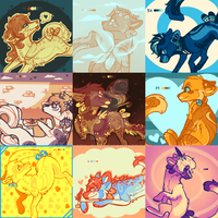 palette doodles by Lady--Bug