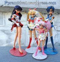 Sailor Moon Musasiya resin garage kit group by Pyramidcat