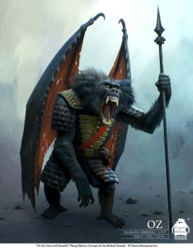 Oz - Flying Baboon Concept by michaelkutsche