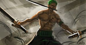 zoro sketch by r-trigger