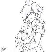 Princess Rosalina WIP by AliPwnzJoo