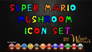 Super Mario Mushroom Icons by Wigglewormz