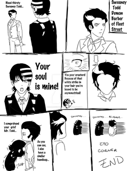 Death the Kid vs. Sweeney Todd by teh-muffin-thing