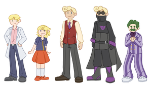 Issac, Melody, Kincaid, and Wheeler by Bast13