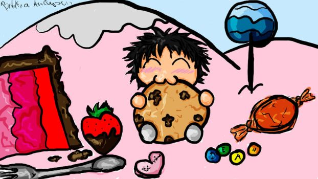 Castiel in Candyland by Tina-Chan94