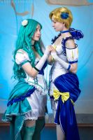 Sailor Neptune and Sailor Uranus, ANIMAU EXPO 2017 by Shiera13