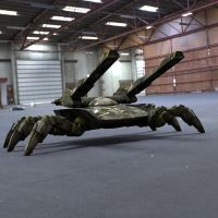 Spider Tank in A Garage by VanishingPointInc