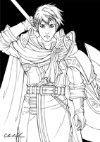 Ike Lineart by Chibivi-Linearts