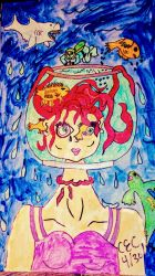 In a fish bowl by courtsporty0512