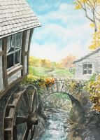 Mill Watercolour by Entar0178