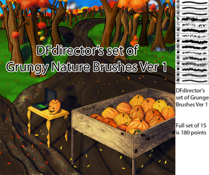 Grungy Nature Brushes Ver 1 (CS5+) by DFdirector