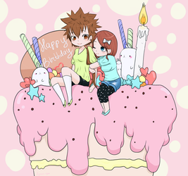 Tsuna's Birthday Cake! by Ayano-tyan