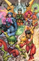 Cover for Teen Titans by arf