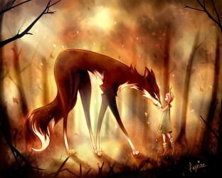 Autumn Fox by fayrine