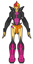 Arcee in Sunset Shimmer colors by Combatkaiser