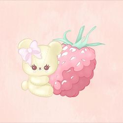 Raspberry Cutie Bear by CatAstropheBoxes