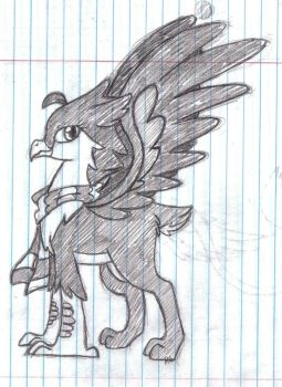 Doodle's Griffin Buddy: Sage by Neko-Chan333