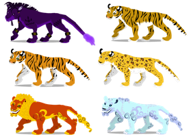 Big cat skins by PurpleRat-YS