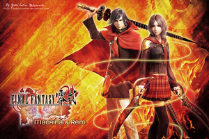 FF Type-0 Machina and Rem - wallpaper by ladylucienne