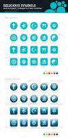 Religious Groups Symbols by BlinVarfi